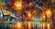 Park Bench Framed Prints - Lost Love Framed Print by Leonid Afremov