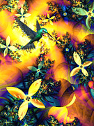 Hummingbird Prints Prints - Lost Paradise Print by Sharon Lisa Clarke