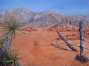 Desert Landscape Paintings - Lost Ranch by Roseann Gilmore