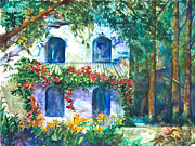 Villa Painting Originals - Lost Resort by Patricia Allingham Carlson