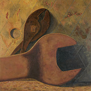 Rust Paintings - Lost Tools by Garry McMichael