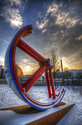 White River Scene Acrylic Prints - Lost wheel Acrylic Print by Nathan Wright