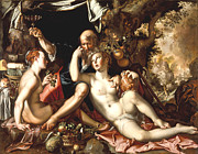 Old Masters Digital Art - Lot And His Daughters by Joachim Antonisz Wtewael