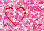 Friendly Digital Art - LOTS of HEARTS . . . LOTS of LOVE by Daniel Hagerman