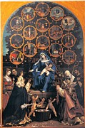 Rosary Framed Prints - Lotto Lorenzo, Madonna Of The Rosary Framed Print by Everett