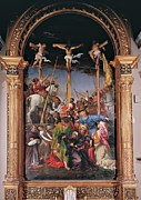Lances Prints - Lotto Lorenzo, The Crucifixion, 1534 Print by Everett