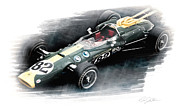 Motor Sports Posters - Lotus 38 Poster by Peter Chilelli