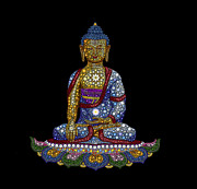 Prayer Metal Prints - Lotus Buddha Metal Print by Tim Gainey