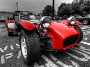 Auto Metal Prints - Lotus Caterham Super 7 001 Metal Print by Lance Vaughn