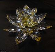 Hand Made Glass Art - Lotus Flower Crystal by Shan Peck