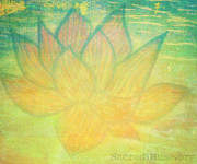 Red Paintings - Lotus Flower by Sacred  Muse