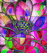 Catherine Mixed Media Prints - Lotus Motion Print by Catherine Harms