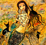 Beautiful Girl Prints - Lotus Pool Print by Shijun Munns