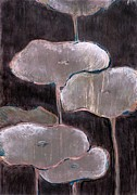 Lotus Leaves Paintings - Lotus Thirty Five by Lisa Gakyo Schaewe