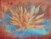 Warm Colors Paintings - Lotus Vitality by Beth Fischer
