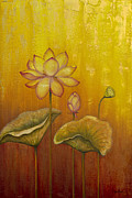 Lotus Bud Paintings - Lotus by Yuliya Glavnaya