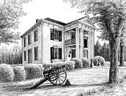 Civil War Site Drawings Prints - Lotz House Print by Janet King