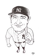 Yankees Drawings Originals - Lou Gehrig by Vince Plzak