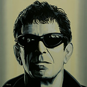 Rock And Roll Painting Posters - Lou Reed Poster by Paul  Meijering