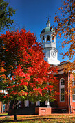Autumn Prints Prints - Loudon County Courthouse II Print by Steven Ainsworth