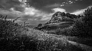 White Clouds Prints - Loudoun Hill Print by John Farnan