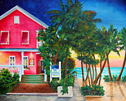 Key West Paintings - Louies Backyard by Phyllis London