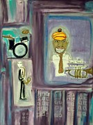 Featured Pastels Prints - Louis Armstrong at the Regal Print by Quentin H Willis