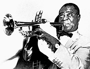 Jazz Singers Framed Prints - Louis Armstrong Framed Print by Daniel Hagerman