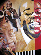 Human Landscape Paintings - Louis Armstrong by Dmitry Spiros