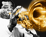 African-american Originals - Louis Armstrong by Tony Rubino