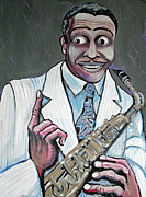 Jordan Paintings - Louis Jordan by Stephen Karla