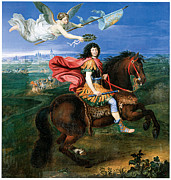 Angel Art Paintings - Louis XIV dressed in Roman Style by Pierre Mignard