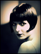 Ziegfeld Girl Prints - Louise Brooks Portrait Print by Rosie Mills