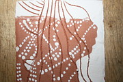 African Ceramics Ceramics Prints - Louise - tile Print by Gloria Ssali