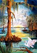 Knees Painting Framed Prints - Louisiana Bayou Framed Print by Diane Millsap