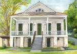 Historic Home Painting Prints - Louisiana Historic District Home Print by Elaine Hodges