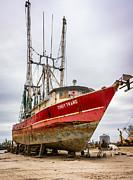Louisiana Shrimp Boat 2 Print by Steve Harrington