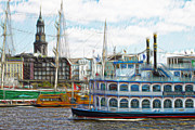 Hamburg Digital Art - Louisiana Star by Colin Hunt