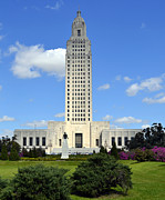 Chanda Henne Posters - Louisiana State Capitol Poster by Chanda Henne