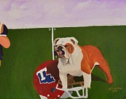 Mascot Painting Prints - Louisiana Tech vs LSU Print by Nina Stephens