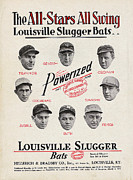 Babe Ruth Art - Louisville Slugger Bats by Unknown