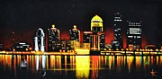 Black Velvet Painting Originals - Louisville by Thomas Kolendra