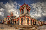 Moorish Digital Art - Loules Market by Nigel Hamer