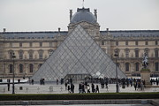 Facade Prints - Louvre - Paris France - 011311 Print by DC Photographer