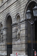 Vertical Metal Prints - Louvre - Paris France - 011315 Metal Print by DC Photographer