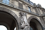 Vertical Art - Louvre - Paris France - 011331 by DC Photographer