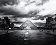 Modernism Framed Prints - Louvre Pyramid - Paris Framed Print by Philip Sweeck