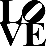Love 20130707 Black White Print by Wingsdomain Art and Photography