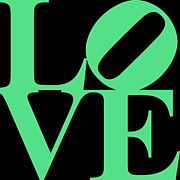 Valentimes Prints - LOVE 20130707 Green Black Print by Wingsdomain Art and Photography