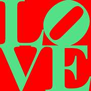 Love 20130707 Green Red Print by Wingsdomain Art and Photography
